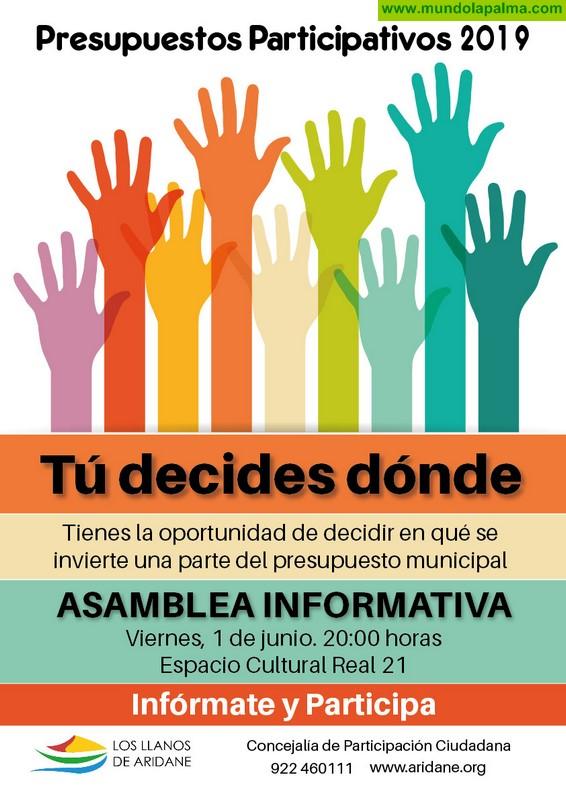 Los Llanos celebra hoy la primera asamblea Ciudadana informativa sobre presupuestos participativos