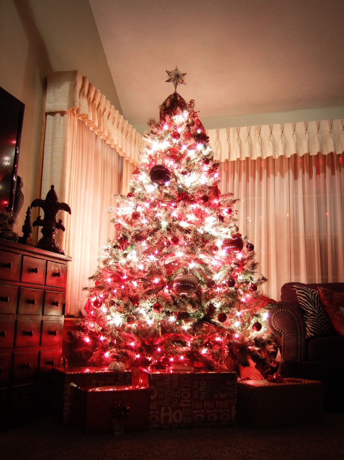 Jacobs Family Blog Rustic Red And Brown Christmas Tree