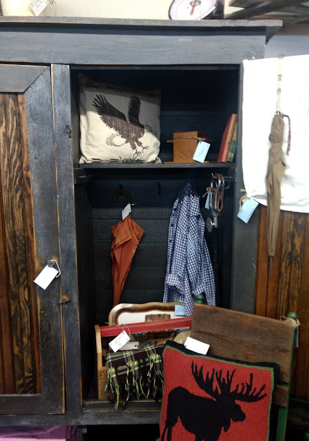 add tongue and groove beadboard to a primitive cupboard