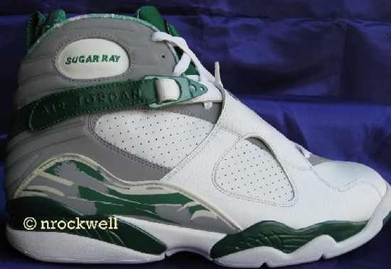 e315b4ae844dbf This promo pair of Air Jordan 8 Retro s were made for Ray Allen to wear  during the 2007-08 NBA season while playing at home for the Boston Celtics.