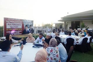 Gerindra Deklarasi Kemenangan Prabowo-Sandi di NTB