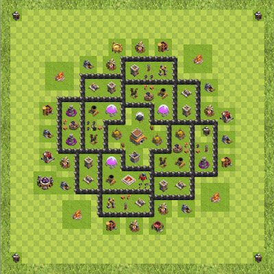 War Base Town Hall Level 8 By Aniket Dahifale (Aniket TH 8 Layout)