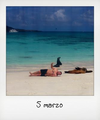 Sposo in viaggio di nozze alle isole Galapagos