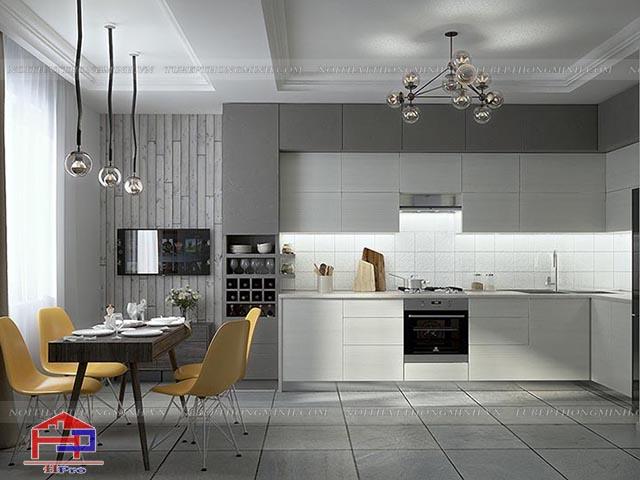 các kiểu phòng bếp đẹp
