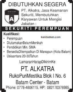 Lowongan Kerja PT. Alkatra Indonesia