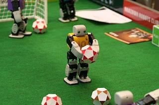 Soccer Playing mini Robots