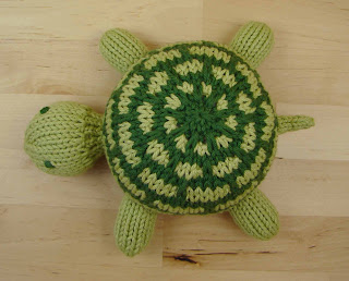 turtle, knit, slipped stitch, green, toy, stuffed, animal, pattern