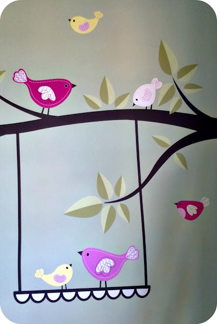 Enchanted Interiors Swinging Birds Stickers on the wall