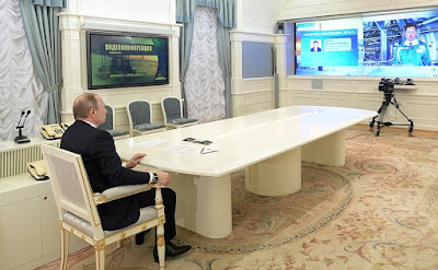 Vladimir Putin via videoconference launched new gas and oil pipelines.