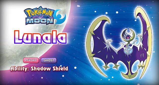 Lunala - Pokémon Sun & Moon