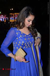 Telugu Actress Tejaswi Madivada Pos in Blue Long Dress at Nanna Nenu Na Boyfriends Audio Launch  0043.JPG