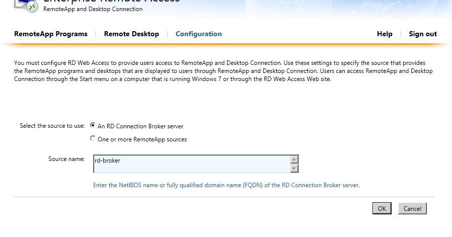 Clint Boessen's Blog: RemoteApps do not appear in RD Web