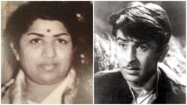 Lata Mangeshkar with Raj Kapoor