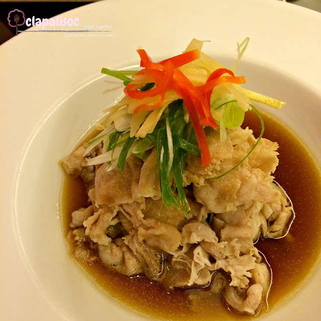 Steamed Kurobuta in Soy Sauce and Ginger