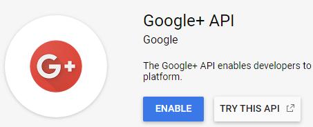 enable google plus api