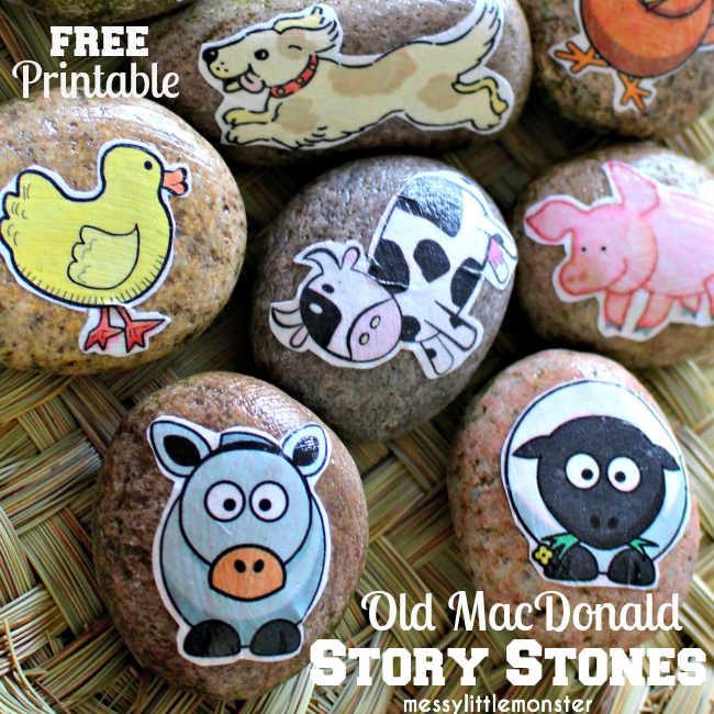 Farm animal story stones : Old MacDonald had a farm nursery rhyme