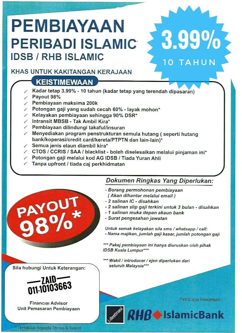 Rhb Easy Loan Syarat Pinjaman
