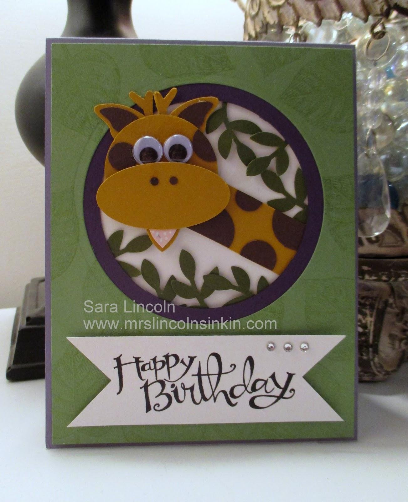 Mrs Lincoln S Inkin Birthday Giraffe