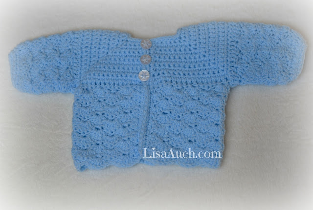 Free crochet patterns babies cardigan BOY Newborn -crochet patterns for babies free