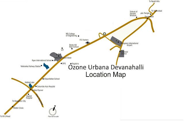 Ozone Urbana Location Map