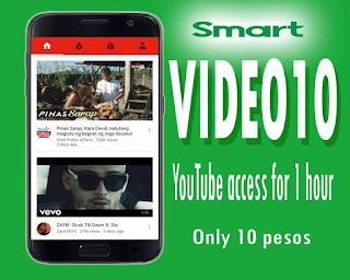 Smart VIDEO10 – 10 Pesos Unlimited YouTube Streaming for 1 Hour