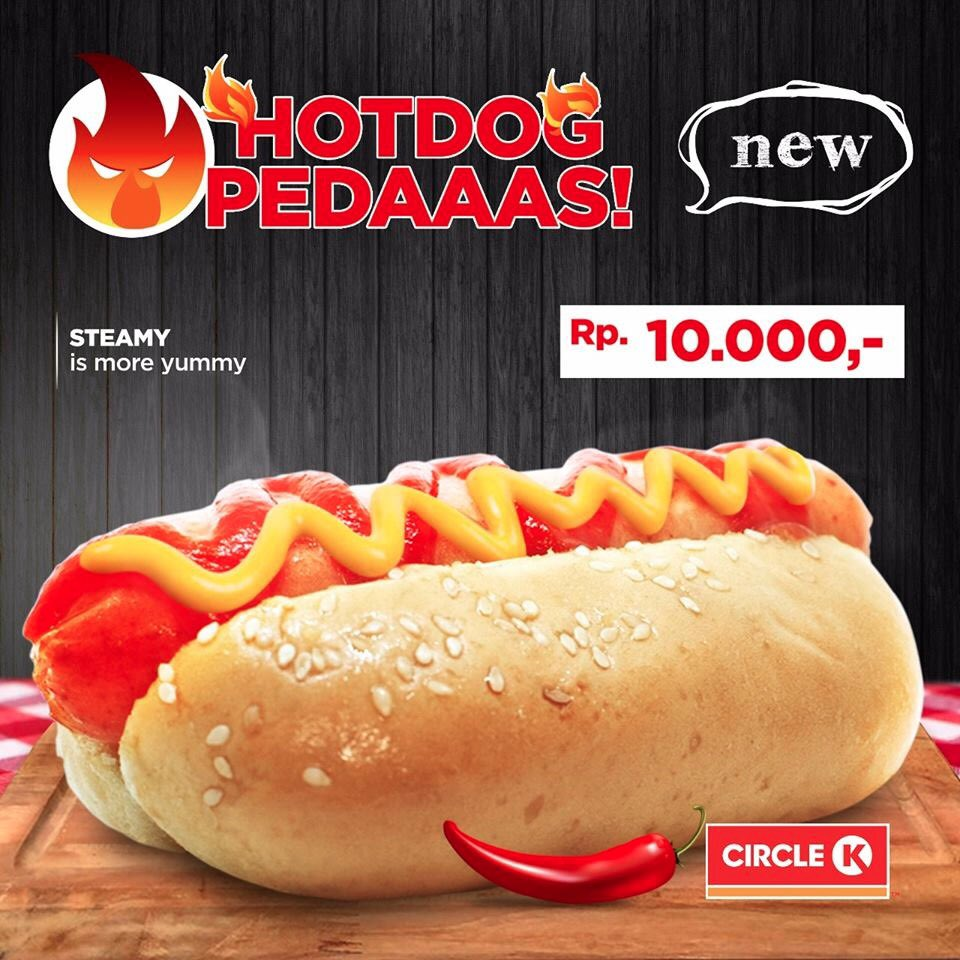 CircleK - Promo New Produk Hotdog Pedas Cuma 10 Ribuan Saja