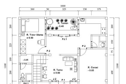 10 Contoh Denah Rumah ukuran 10 X 13