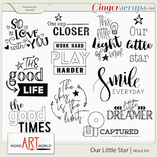 NEW Word Art + January 2019 Free Word Art Pack!