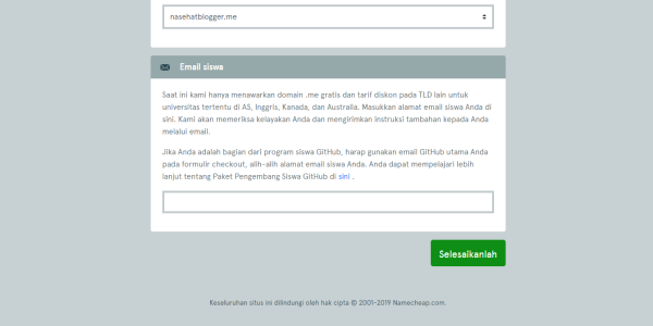 cara mendapatkan domain me dengan gratis