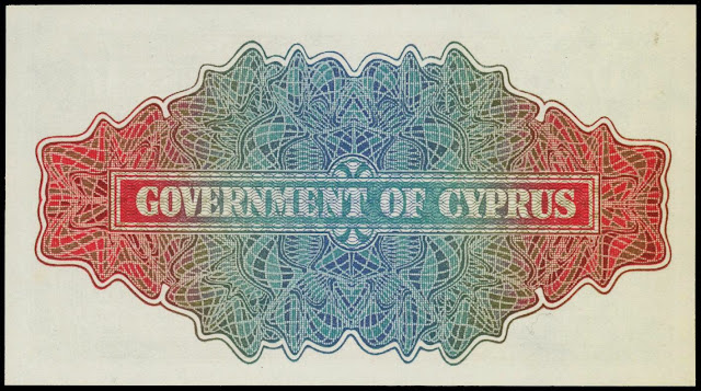 Cyprus money currency One Shilling note 1947