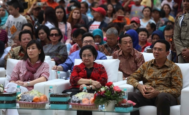 Megawati Temani Ahok Resmikan RPTRA Kalijodo