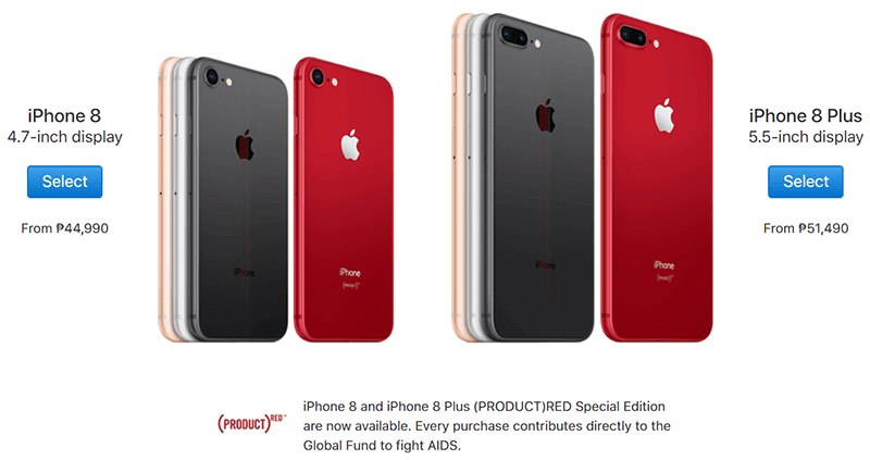 Apple launches iPhone 8 and iPhone 8 Plus (PRODUCT)RED edition now in PH