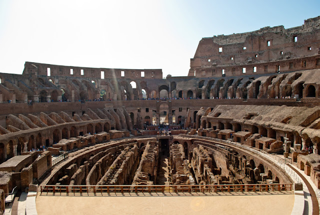 rome colosseum in the summer