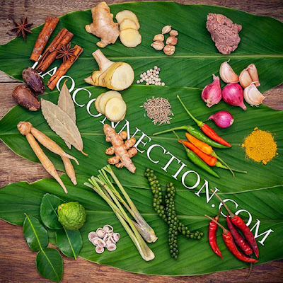 Fresh Lao food ingredients
