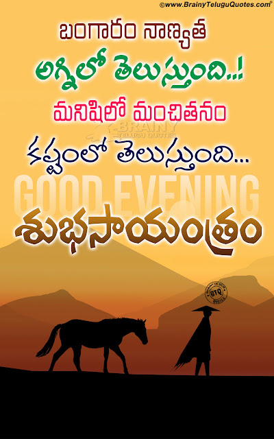telugu greetings, good evening quotes in telugu, Telugu subhasayantram quotes hd wallpapers