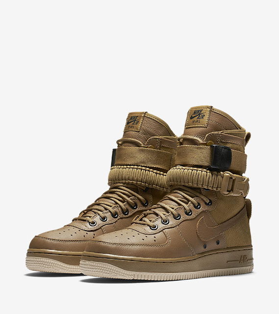 Nike Special Field Air Force One beige bege gold