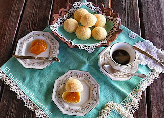 Pan de queso brasileño (Pao de queijo brasileiro)