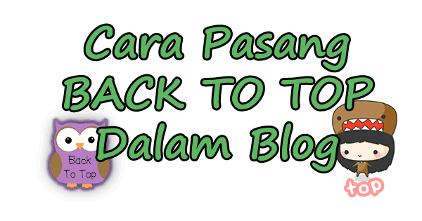 tutorial, cara, back to top, blog