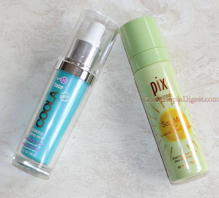 Sunscreens that serve as makeup setting sprays