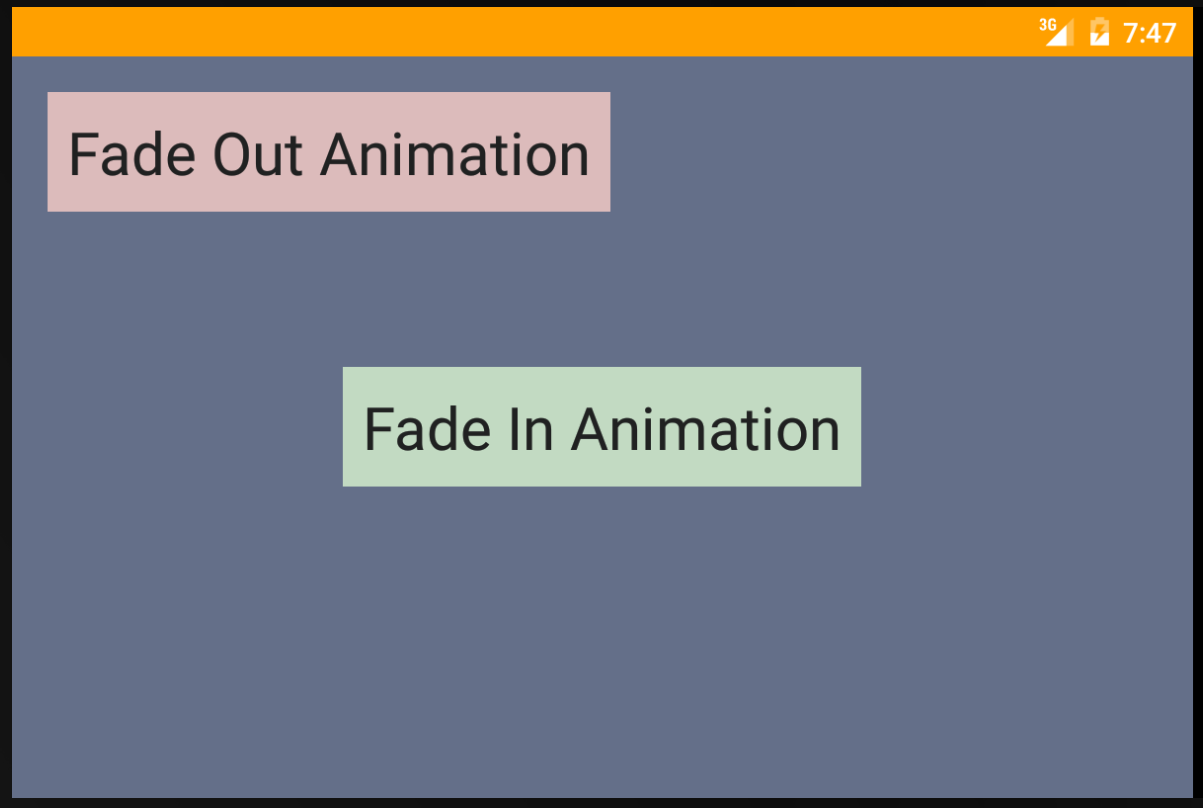 android - Fade in and fade out animation example