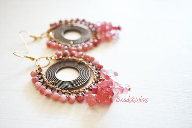 Pink! orecchini rosa pastello