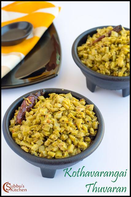 Kothavarangai Thuvaran | Cluster Beans Poriyal