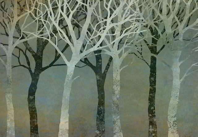 Puu tapetti metsä