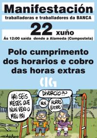22 de xuño ás 12 h. na Alameda de Compostela: manifestación nacional de traballadores e traballadoras de banca