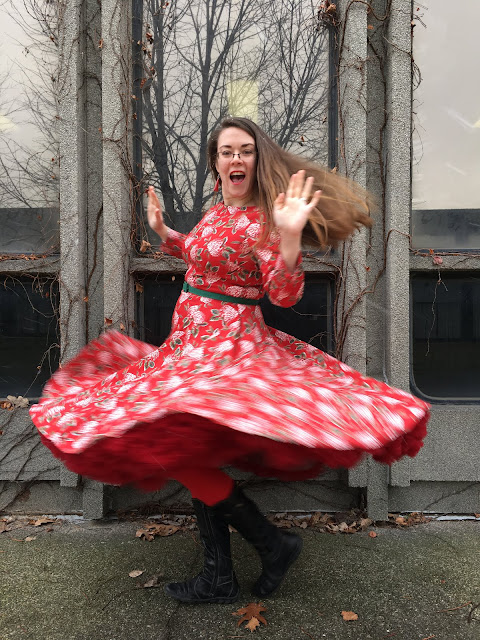 collectif delphine swing dress red malco modes jennifer