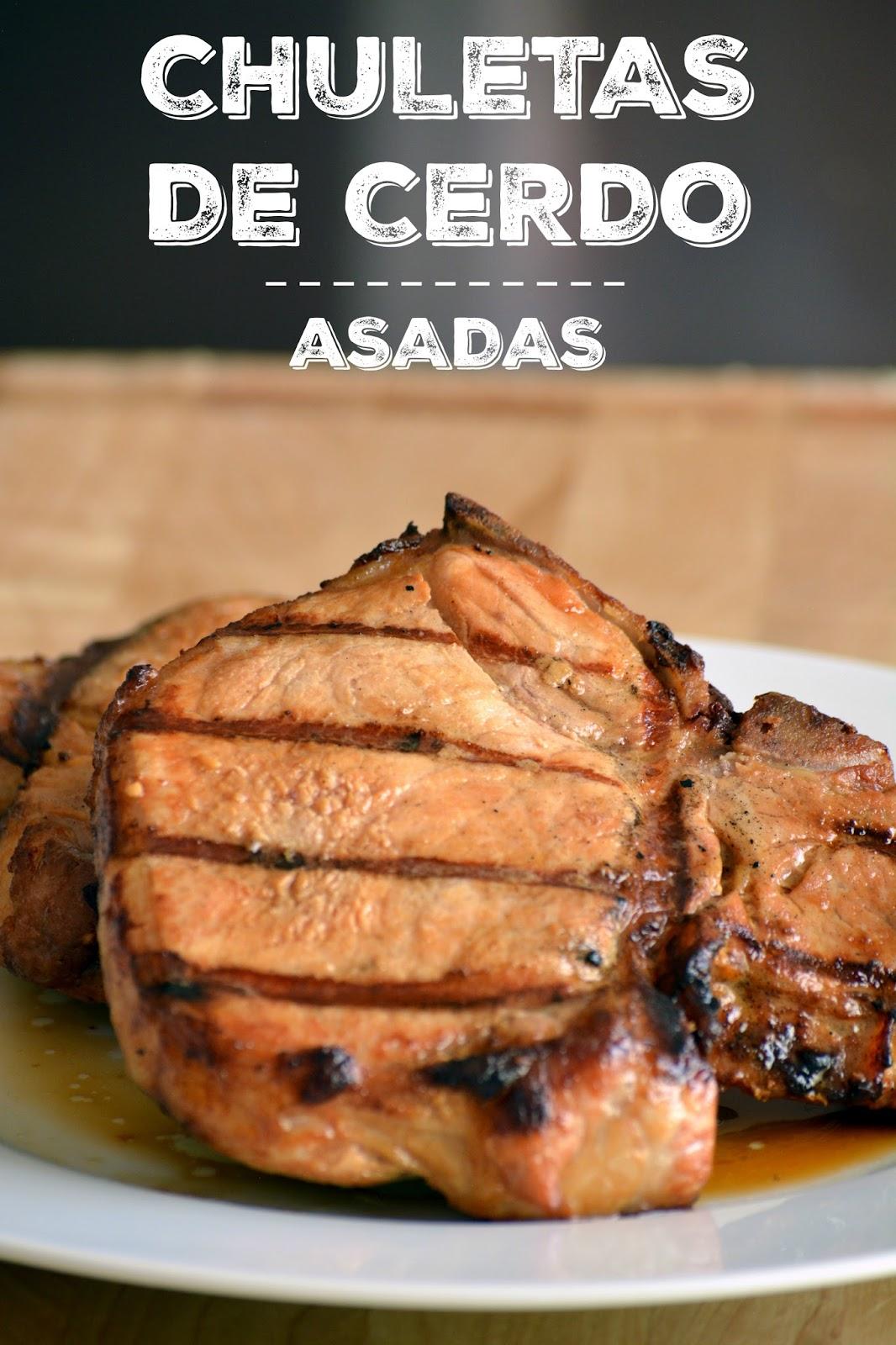 Chuletas De Cerdo Asadas Sweet Y Salado
