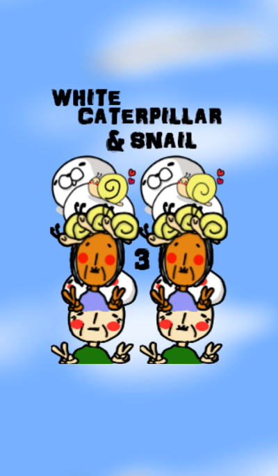 WHITE CATERPILLAR AND SNAIL