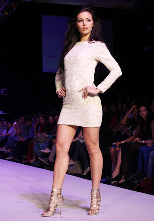 VJ Mia for Payal Kapoor1 -  Bollywood celebs at Lakme Fashion Week 2012