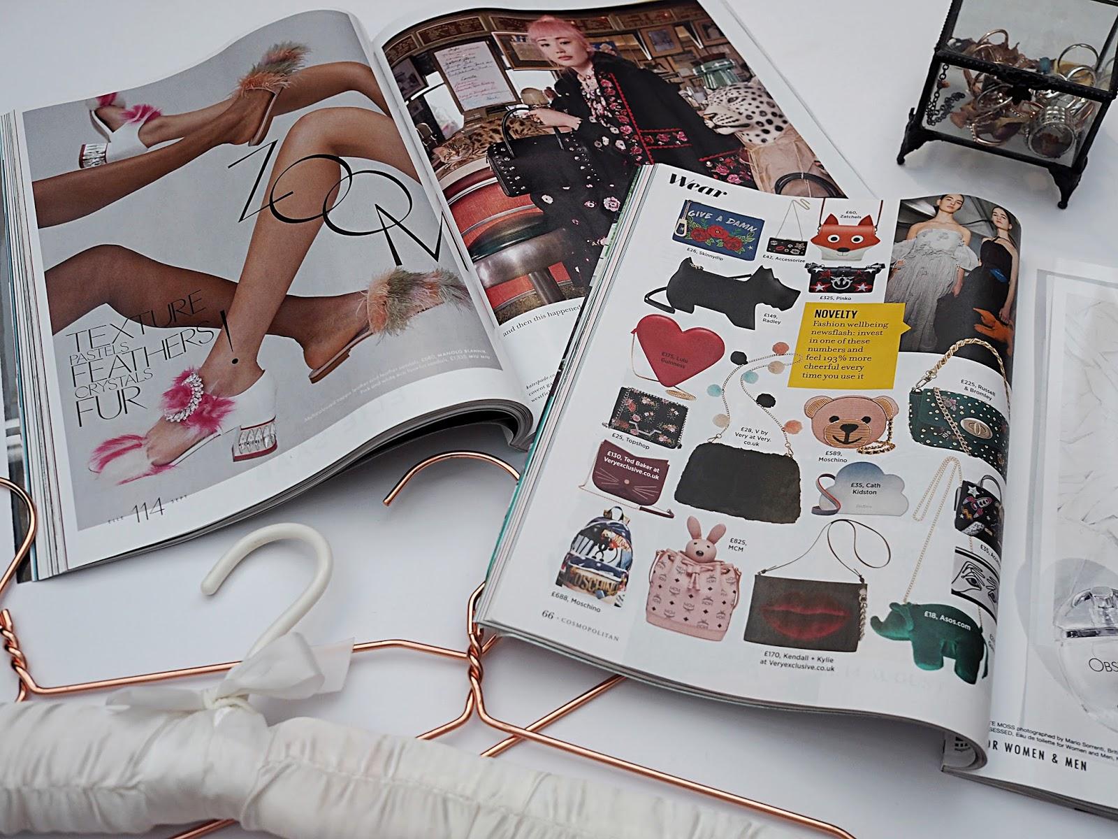 magazine flatlay