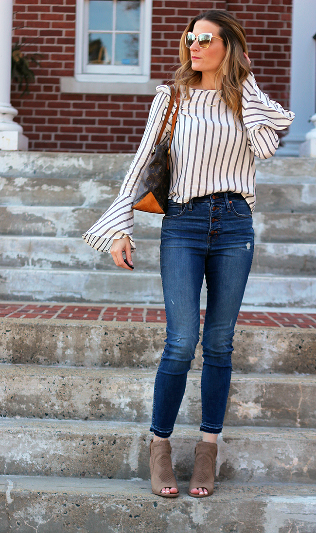 Bell Sleeve Top For Spring #springtop #springstyle #bellsleeves